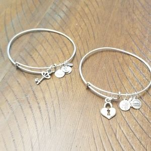 Alex and Ani bracelet- lock and key set (2)